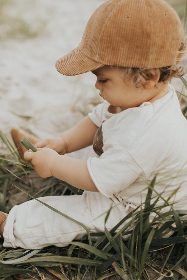 detská menčestrová šiltovka