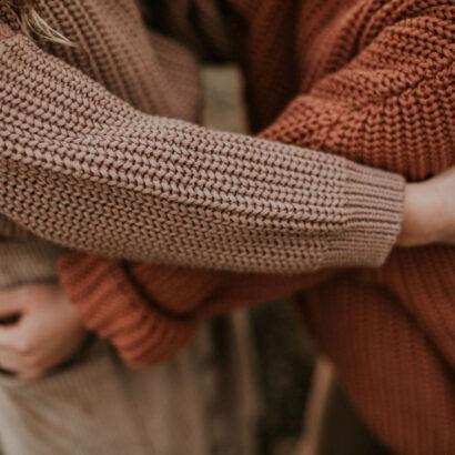 oversize sveter pletený